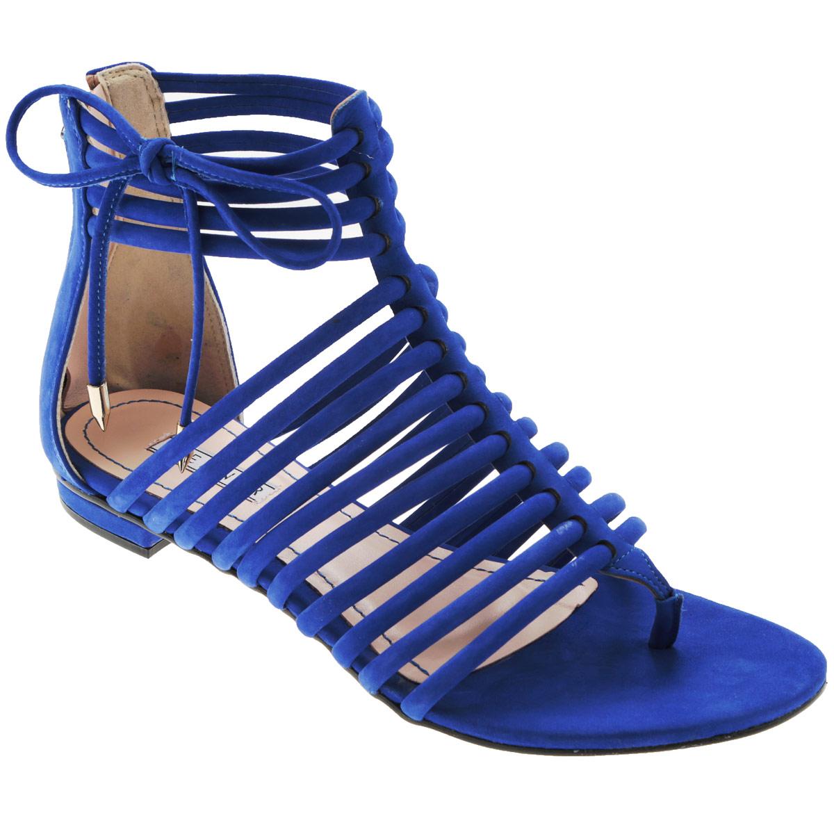 Сандалии женские Werner, цвет: синий. 0-53034. Размер 34 (35)0-53034Стильные сандалии от Werner займут достойное место среди вашей коллекции летней обуви. Модель выполнена из натурального нубука. Стелька из натуральной кожи обеспечивает комфорт при ходьбе.Эргономичная перемычка между пальцами и тонкие ремешки на подъеме и вокруг щиколотки отвечают за надежную фиксацию модели на ноге. Закрытая пятка дополнена удобной застежкой-молнией. Декорировано изделие бантиком из нубука с металлическими наконечниками Подошва выполнена из прочного полимера с противоскользящим рифлением.Модные сандалии прекрасно дополнят любой из ваших образов.