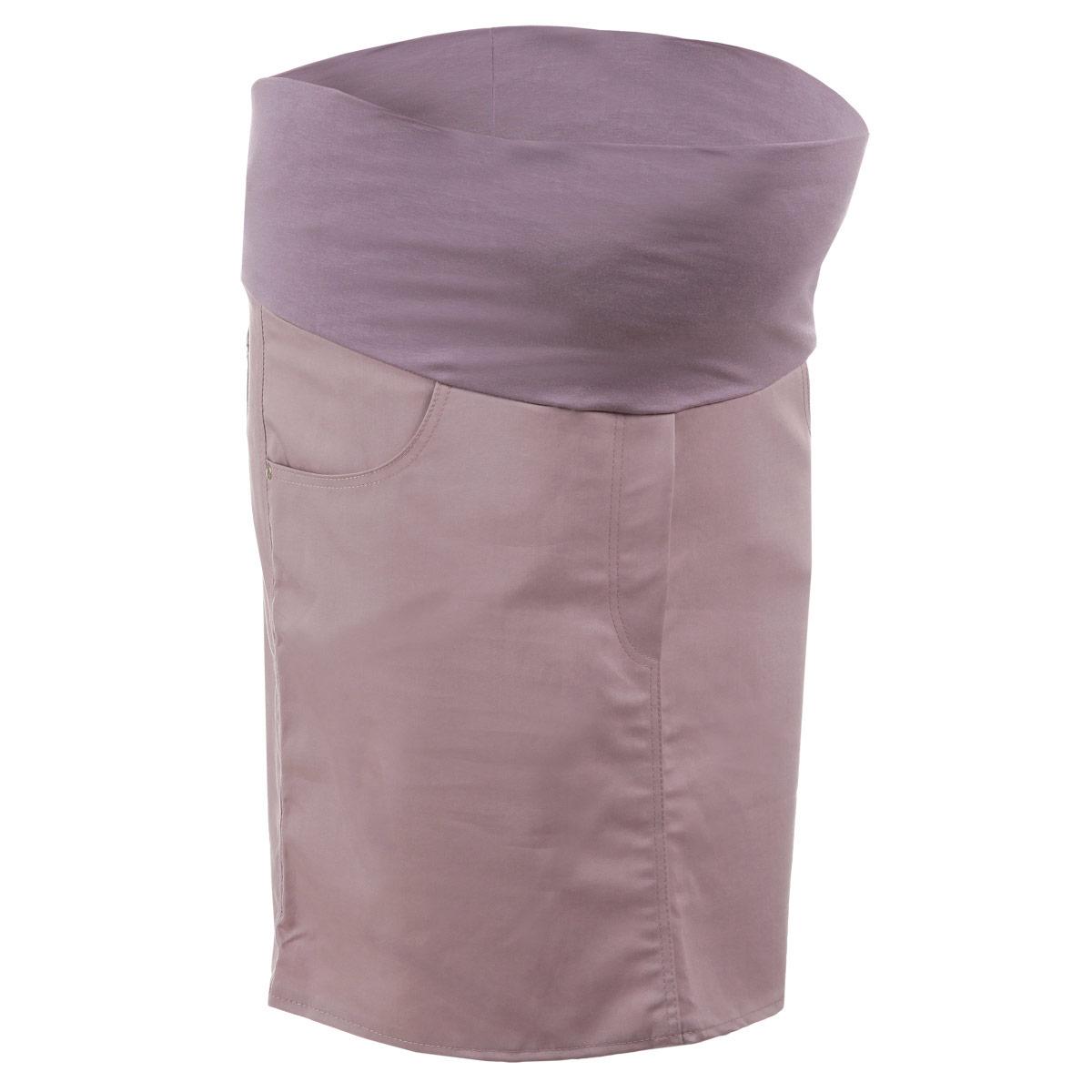 Юбка для беременных Nuova Vita, цвет: пепельно-розовый. 6107.5. Размер 426107.5Стильная и удобная юбка для беременных Nuova Vita станет отличным дополнением вашего летнего гардероба и подчеркнет очарование будущей мамы.Юбка-миди выполнена из высококачественного материала, она невероятно мягкая и приятная на ощупь. Модель оснащена высоким удобным бандажом, дополнительно поддерживающим живот. Юбка дополнена двумя втачными карманами спереди и двумя накладными карманами сзади, а также оформлена имитацией ширинки.Юбка выполнена из вискозы с добавлением полиэстера и эластана. Вискоза является волокном, произведенным из натурального материала - целлюлозы (древесины). Иногда ее называют древесный шелк. Эта ткань на ощупь мягкая и приятная, образует красивые складки. Материал очень хорошо впитывает влагу, не образует катышек со временем, не выцветает на солнце и обладает приятным шелковистым блеском.