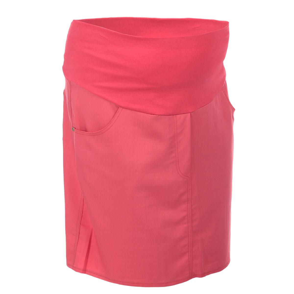 Юбка для беременных Nuova Vita, цвет: коралловый. 6107.1. Размер 446107.1Стильная и удобная юбка для беременных Nuova Vita станет отличным дополнением вашего летнего гардероба и подчеркнет очарование будущей мамы.Юбка-миди выполнена из высококачественного материала, она невероятно мягкая и приятная на ощупь. Модель оснащена высоким удобным бандажом, дополнительно поддерживающим живот. Юбка дополнена двумя втачными карманами спереди и двумя накладными карманами сзади, а также оформлена имитацией ширинки.Юбка выполнена из вискозы с добавлением полиэстера и эластана. Вискоза является волокном, произведенным из натурального материала - целлюлозы (древесины). Иногда ее называют древесный шелк. Эта ткань на ощупь мягкая и приятная, образует красивые складки. Материал очень хорошо впитывает влагу, не образует катышек со временем, не выцветает на солнце и обладает приятным шелковистым блеском.