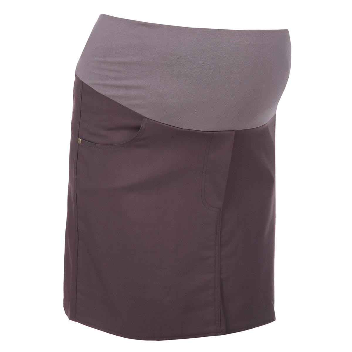 Юбка для беременных Nuova Vita, цвет: серо-фиолетовый. 6107.4. Размер 446107.4Стильная и удобная юбка для беременных Nuova Vita станет отличным дополнением вашего летнего гардероба и подчеркнет очарование будущей мамы.Юбка-миди выполнена из высококачественного материала, она невероятно мягкая и приятная на ощупь. Модель оснащена высоким удобным бандажом, дополнительно поддерживающим живот. Юбка дополнена двумя втачными карманами спереди и двумя накладными карманами сзади, а также оформлена имитацией ширинки.Юбка выполнена из вискозы с добавлением полиэстера и эластана. Вискоза является волокном, произведенным из натурального материала - целлюлозы (древесины). Иногда ее называют древесный шелк. Эта ткань на ощупь мягкая и приятная, образует красивые складки. Материал очень хорошо впитывает влагу, не образует катышек со временем, не выцветает на солнце и обладает приятным шелковистым блеском.