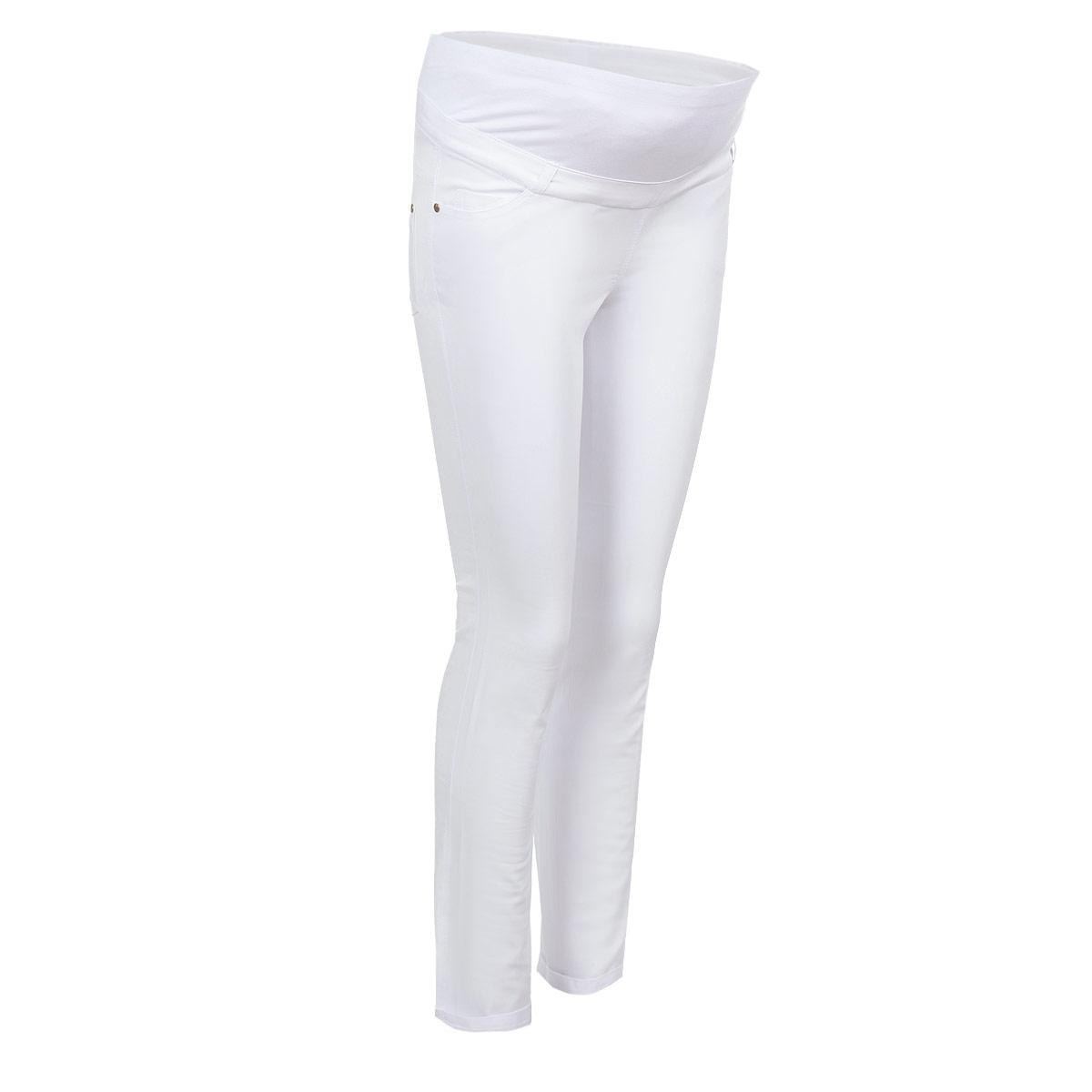 Брюки для беременных Nuova Vita, цвет: белый. 5422.2. Размер 505422.2Стильные брюки для беременных Nuova Vita выполнены из тонкого эластичного материала. Ткань приятная на ощупь, не вызывает раздражений и надежно сохраняет тепло. Модель прямого кроя с удобным бандажом на живот и регулируемой резинкой, позволяющей носить эти брюки вплоть до 9 месяца беременности. Спереди брюки дополнены двумя втачными карманами, сзади - двумя накладными карманами. На поясе предусмотрены шлевки для ремня. Такие брюки подарят вам комфорт и свободу движений и займут достойное место в гардеробе молодой мамы.