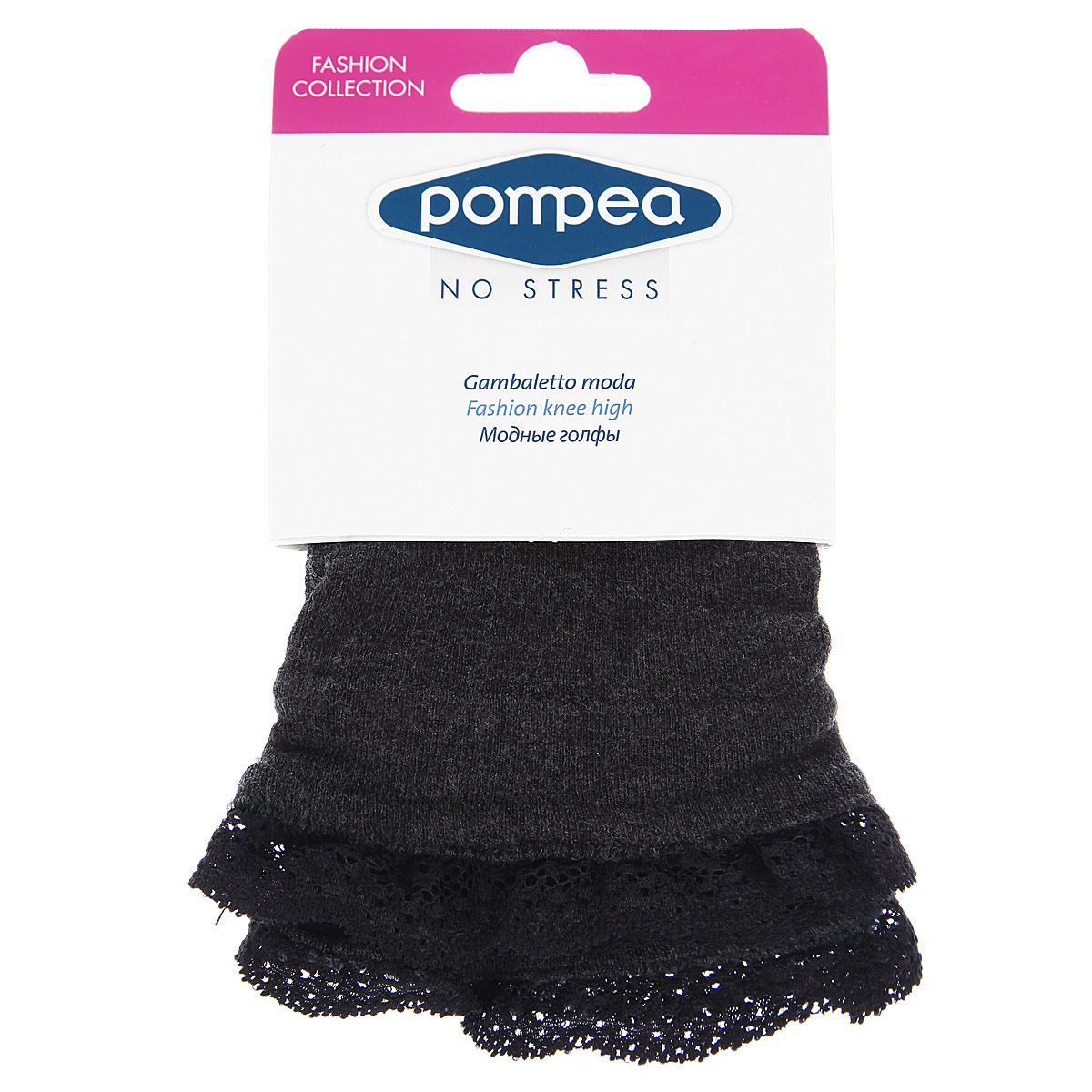 Гольфы женские Pompea Laumiere Fashion 230, цвет: Antracite (насыщенный серый). 90768961. Размер универсальный
