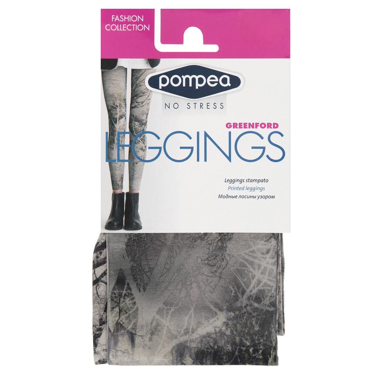 Леггинсы женские Pompea Leggings Greenford Fashion, цвет: Nature (природа). Размер 3-4 (3/4-M/L)