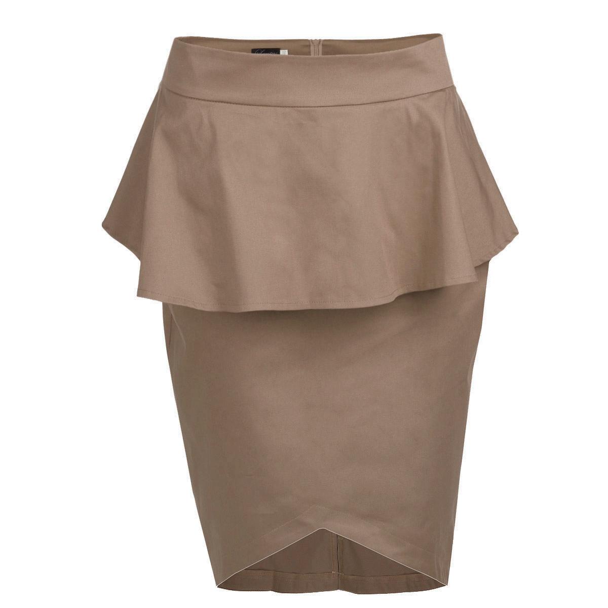 Юбка Lautus, цвет: бежевый. ю0161. Размер 50ю0161Стильная юбка Lautus изготовлена из плотного материала лаконичного цвета. Юбка длины миди подчеркнет все достоинства вашей фигуры. Модель на широком пришивном поясе оформлена элегантной баской и имеет асимметричный подол. Сзади юбка застегивается на потайную молнию и дополнена небольшим разрезом. Эта модная юбка - отличный вариант как на каждый день, так и на торжественное мероприятие. Она займет достойное место в вашем гардеробе и подчеркнет ваш безупречный вкус.
