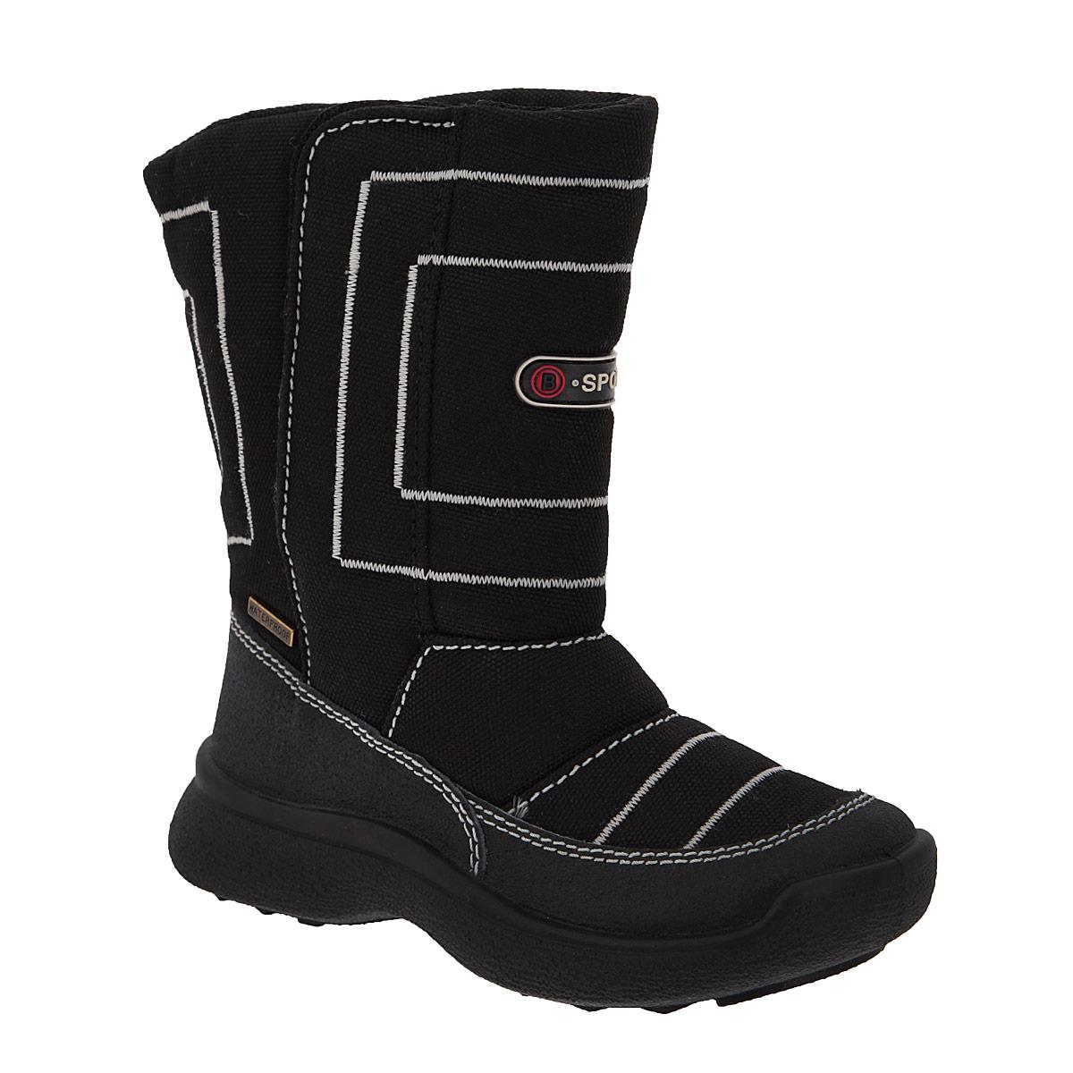Сапоги для мальчика Аллигаша, цвет: черный. 11-155. Размер 2811-155Замечательные сапоги для мальчика Аллигаша, изготовленные из современных материалов, обеспечат удобство и комфорт ножкам вашего малыша в прохладную погоду. Верх выполнен из комбинаций натуральной кожи и текстиля. Технология TEGINA-TEX - это обувь с применением специальной подкладочной мембраны, которая позволяет ноге дышать и абсолютно непроницаемо снаружи для воды и холода. На морозе удерживается тепло, а в помещении нога не потеет.Модель на высокой рифленой подошве с округлым мыском обеспечивает удобство и практичность на каждый день. Удобная пяточная часть укреплена. Внутренняя отделка из текстиля и шерсти. Удобная застежка-липучка на внешней стороне голенища обеспечивает практичность и комфортную фиксацию модели на ноге. Стелька из натуральной шерсти не даст ножке замерзнуть. Оформлена модель прострочкой, а также прорезиненной вставкой и металлической пластиной. В таких сапожках ножкам вашего ребенка всегда будет комфортно, уютно и тепло!