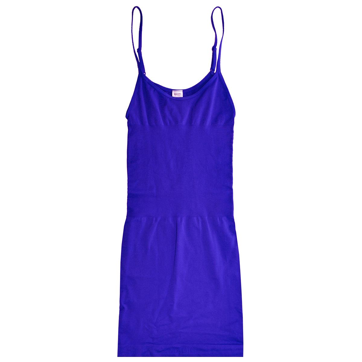 Платье Magic BodyFashion Seamless Dress, корректирующее, цвет: синий. 15BD. Размер S (44)15BDБесшовное корректирующее платье Magic BodyFashion Seamless Dress на тонких регулируемых бретелях очень удобное и комфортное в носке. Модель уменьшает живот и бедра, заметно корректирует объемы. Платье придаст вашему телу идеальные формы: сделает грудь и ягодицы подтянутыми, талию - стройной, а осанку - прямой. Функциональный покрой заметно подтягивает и моделирует фигуру, скрывая ее недостатки.Крой платья необычен, благодаря чему его невозможно заметить под любой одеждой, оно практически не ощущается на коже, позволяет чувствовать себя комфортно и легко. Изделие позволяет приобрести выразительные линии своего тела за считанные секунды (можно скрыть все лишнее и придать объем там, где необходимо).Белье Magic BodyFashion создано для тех, кто стремится к безупречности своего стиля. Именно благодаря ему огромное количество женщин чувствуют себя поистине соблазнительными, привлекательными и не на шутку уверенными в себе.