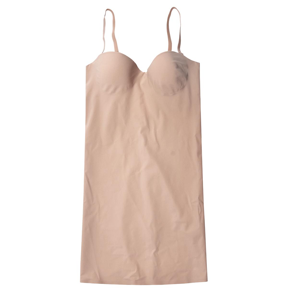 Платье Magic BodyFashion Shape-Up Dress, корректирующее, цвет: бежевый. 18SD. Размер 80B18SDКорректирующее платье Magic BodyFashion Shape-Up Dress на тонких съемных регулируемых бретелях очень удобное и комфортное в носке. Модель с высокой степенью утяжки по всей поверхности придает фигуре желаемые очертания. Бюстгальтер с каркасом поддержит вашу грудь в любых обстоятельствах, сзади застегивается на три крючка в трех позициях.Крой платья необычен, благодаря чему его невозможно заметить под любой одеждой, оно практически не ощущается на коже, позволяет чувствовать себя комфортно и легко. Изделие позволяет приобрести выразительные линии своего тела за считанные секунды (можно скрыть все лишнее и придать объем там, где необходимо).Белье Magic BodyFashion создано для тех, кто стремится к безупречности своего стиля. Именно благодаря ему огромное количество женщин чувствуют себя поистине соблазнительными, привлекательными и не на шутку уверенными в себе.