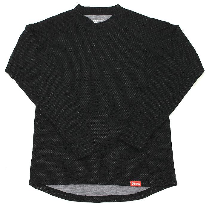 Термобелье рубашка NOVA TOUR Двойная шерсть, теплая, цвет: черный. 54079. Размер XXL (60-62)