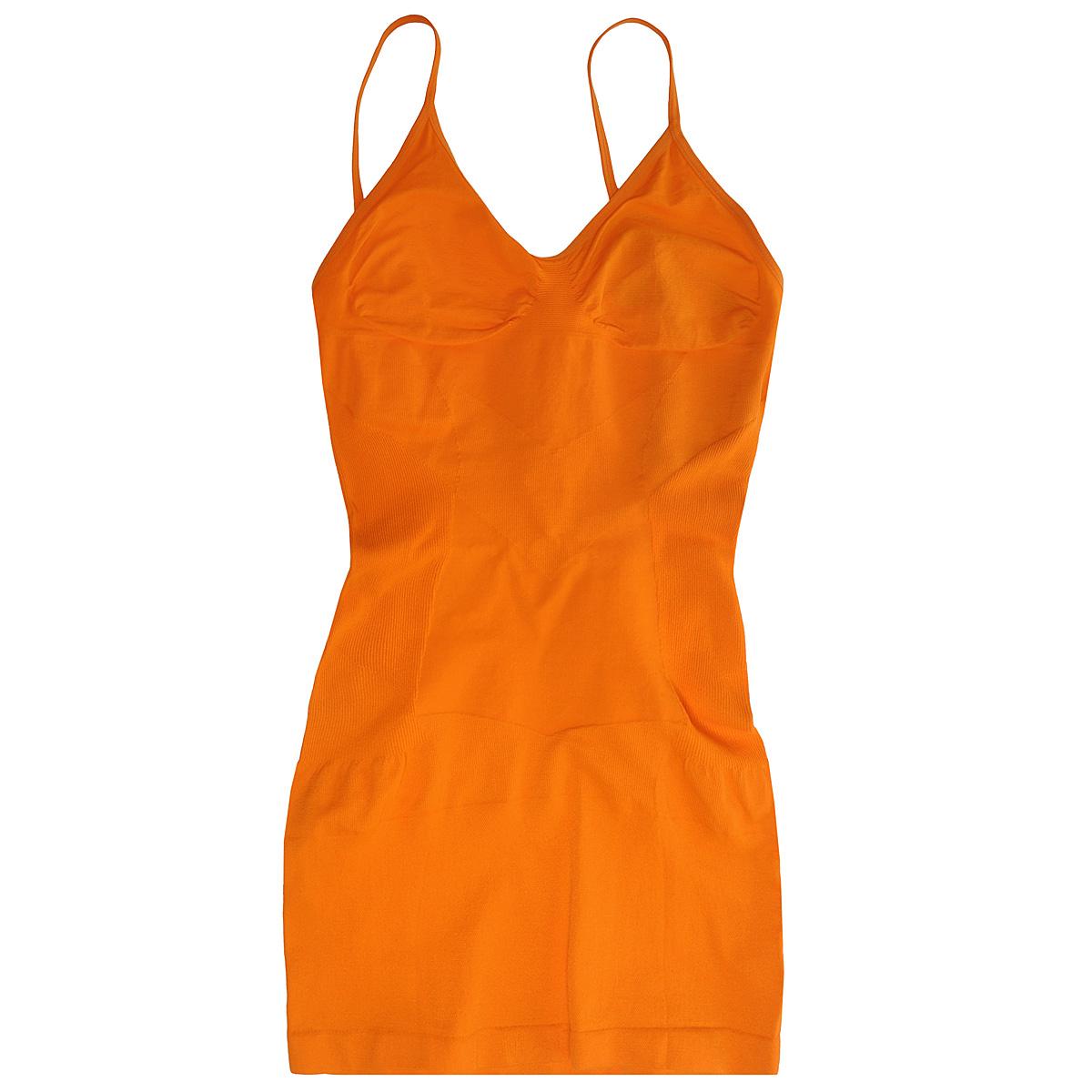 Майка женская Magic BodyFashion Slimming Cami, бесшовная, цвет: оранжевый. 40CM. Размер S (44)