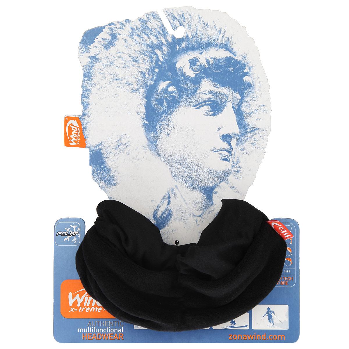 Бандана многофункциональная WindXtreme PolarWind, цвет: черный. УТ-0000572116. Размер 53/62УТ-0000572116_UltraBlackМногофункциональный головной убор WindXtreme PolarWind - это очень современный предмет одежды, который защитит вас от самого лютого мороза благодаря комбинации ткани и флиса. Его можно использовать как: шарф, шейный платок, бандану, повязку, ленту для волос, балаклаву и шапку. Подходит для занятий бегом, походов, скалолазания, езды на велосипеде, сноуборда, катания на лыжах, мотоциклах, игры в хоккей, а так же для повседневного использования.Сочетание ткани и флиса Pilhot из микроволокна гарантируют дополнительные тепло и комфорт, отведение влаги, быстрое высыхание, очень эластичны, принимают практически любую форму. Обладает антибактериальным эффектом.Уважаемые клиенты!Размер, доступный для заказа, является обхватом головы.