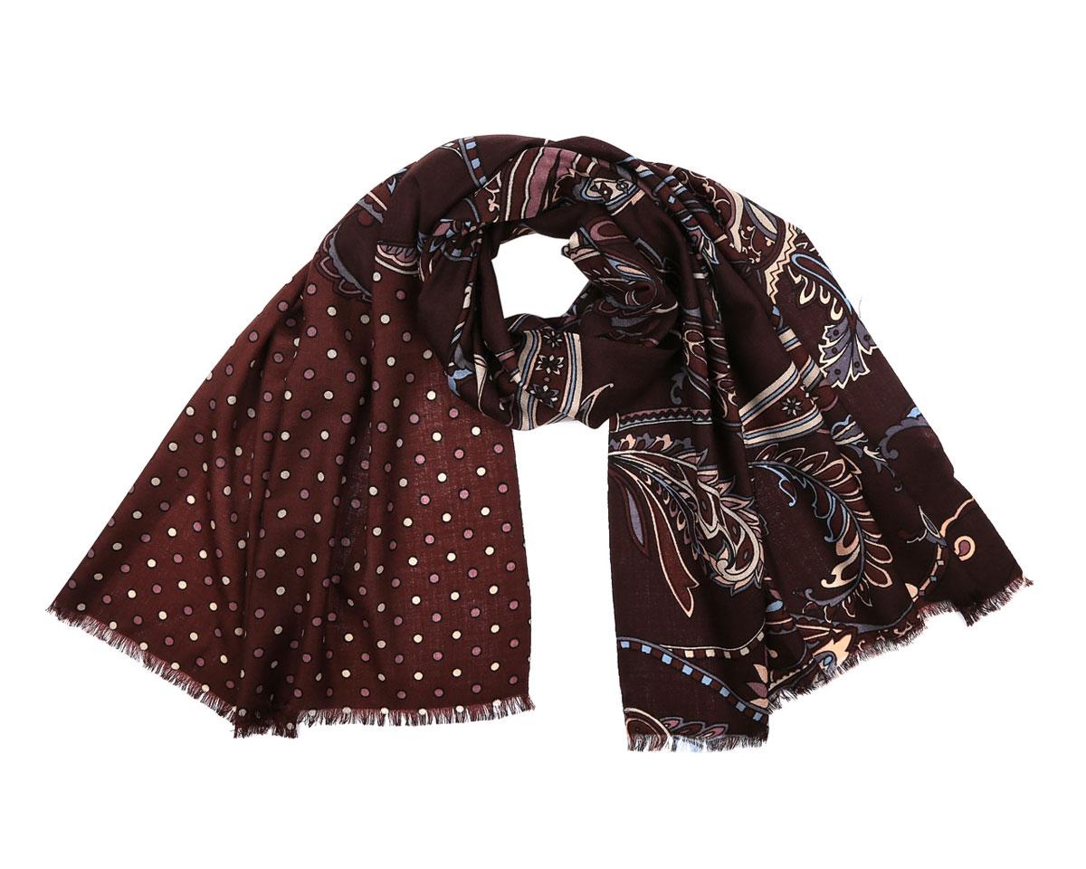 Шарф женский Fabretti, цвет: коричневый. 3500-1. Размер 180 см х 70 см3500-1Потрясающий женский шарф Fabretti выполнен из шерсти и украшен актуальным этническим узором. Края модели оформлены коротенькой бахромой.Великолепный женский шарф Fabretti станет ярким акцентом однотонного демисезонного гардероба, а окружающие обязательно будут обращать свое восторженное внимание на вас.
