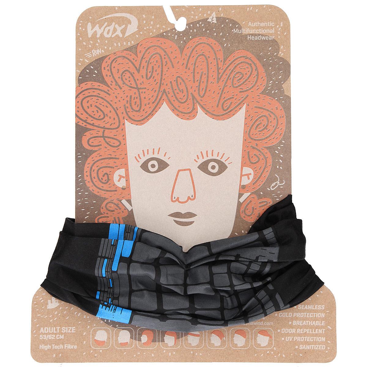 Бандана многофункциональная WindXtreme Wind, цвет: черный, серый, голубой (1264). Размер 53/62УТ-00006334_BlackJackМногофункциональный головной убор WindXtreme Wind - это очень современный предмет одежды, который защитит вас от ветра. Его можно использовать как: шарф, шейный платок, бандану, повязку, ленту для волос, балаклаву и шапку. Подходит для занятий бегом, походов, скалолазания, езды на велосипеде, сноуборда, катания на лыжах, мотоциклах, игры в хоккей, а так же для повседневного использования.Бандана не имеет швов, а материал из микроволокна позволяет коже дышать, гарантирует дополнительные тепло и комфорт, отведение влаги, быстрое высыхание. Изделие очень эластично и принимает практически любую форму. Обладает антибактериальным эффектом.Уважаемые клиенты!Размер, доступный для заказа, является обхватом головы.