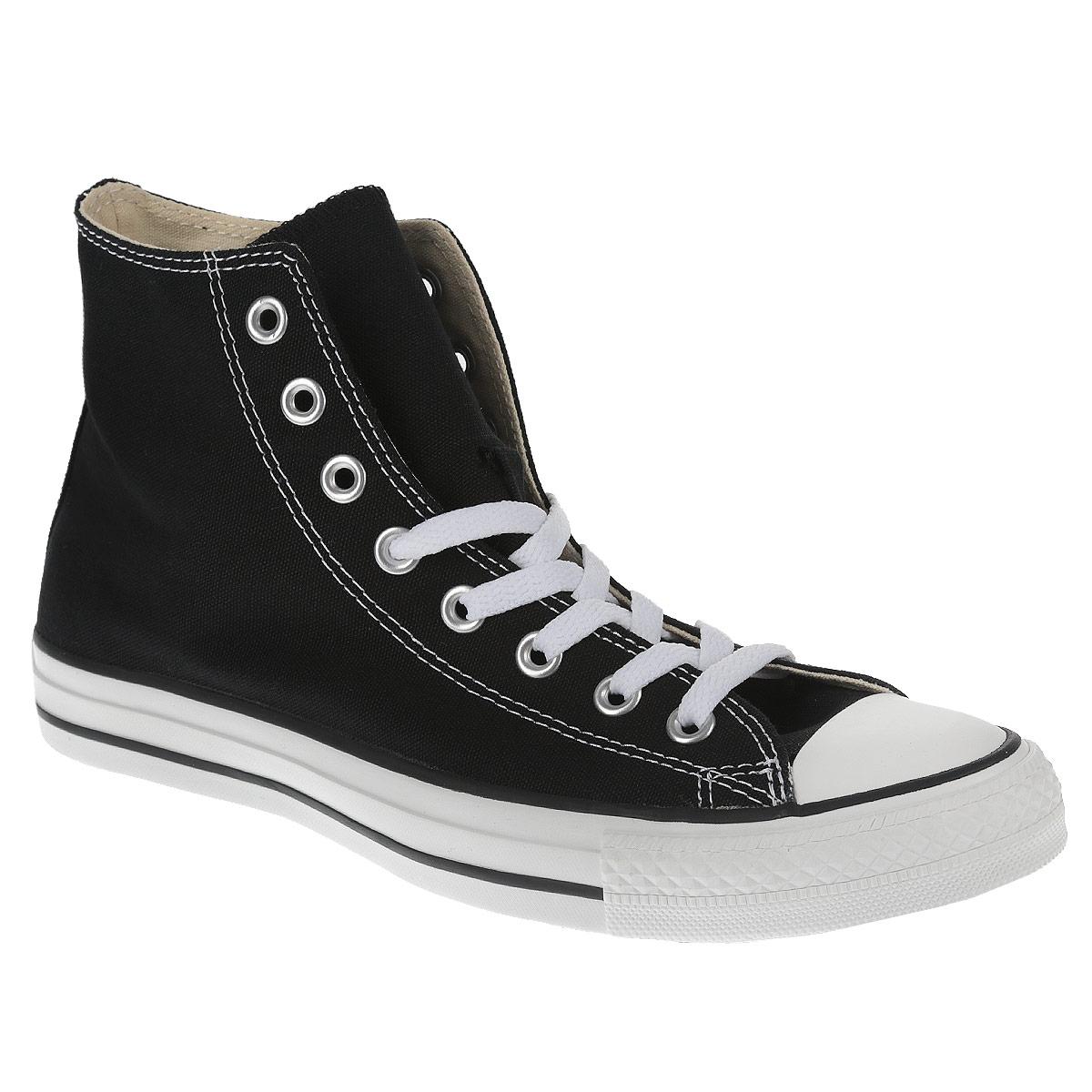 Кеды Converse Chuck Taylor All Star Core Hi, цвет: черный. M9160. Размер 13 (48)M9160Высокие кеды Chuck Taylor All Star Core Hi от Converse займут достойное место среди вашей обуви.Модель выполнена из плотного текстиля и оформлена на одной из боковых сторон металлическими люверсами и фирменной термоаппликацией, на подошве - прорезиненной накладкой и контрастными полосками. Мыс изделия дополнен классической для кед прорезиненной вставкой. Классическая шнуровка обеспечивает надежную фиксацию обуви на ноге. Стелька из материала EVA с текстильной поверхностью комфортна при движении. Гибкая резиновая подошва с рифлением гарантирует идеальное сцепление с любыми поверхностями. В таких кедах вашим ногам будет комфортно и уютно.