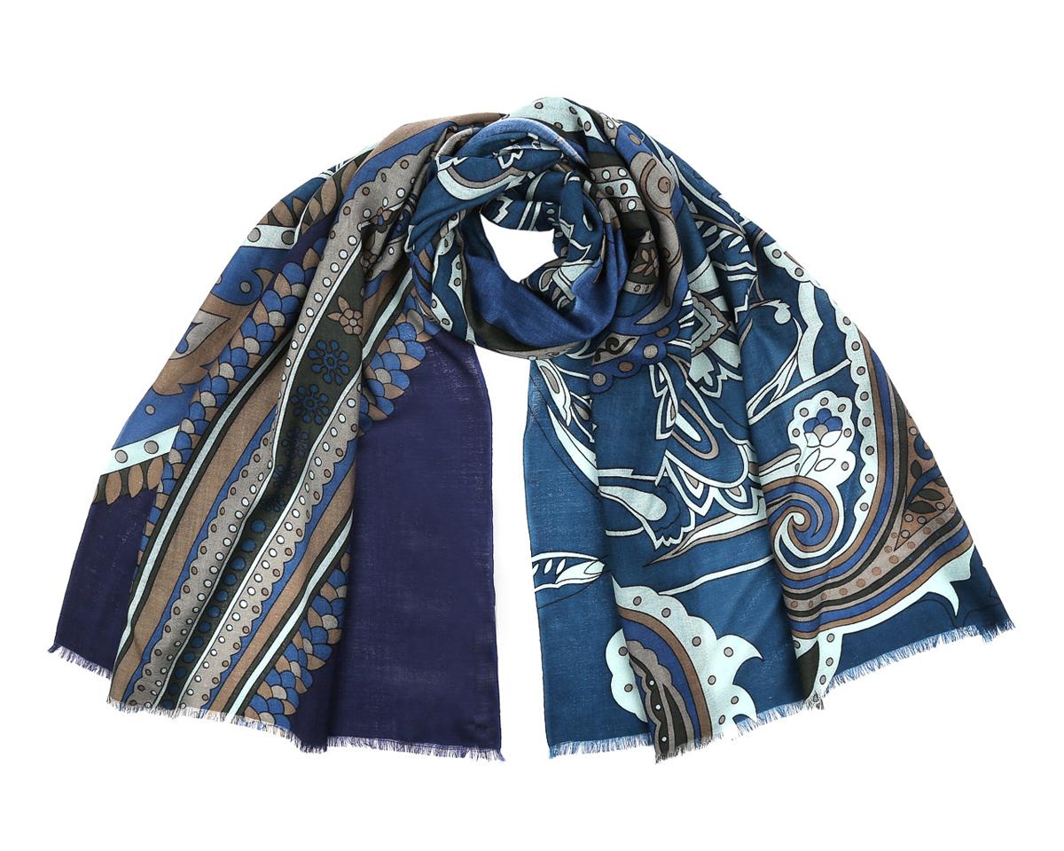 Шарф женский Fabretti, цвет: синий, фиолетовый, песочный. YNNT0203. Размер 188 см х 70 смYNNT0203-10Потрясающий женский шарф Fabretti выполнен из шерсти и украшен актуальным узором. Края модели оформлены короткой бахромой.Великолепный женский шарф Fabretti станет ярким акцентом однотонного демисезонного гардероба, а окружающие обязательно будут обращать свое восторженное внимание на вас.