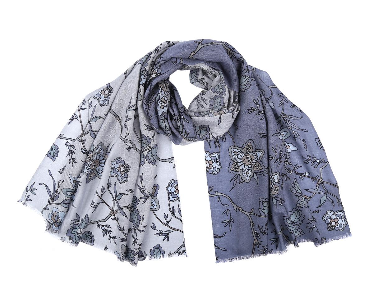 Шарф женский Fabretti, цвет: серо-голубой. WP891-1. Размер 70 см х 184 смWP891-1Стильный шарф от Fabretti согреет и подарит незабываемый комфорт и уют. С помощью этого аксессуара вы можете полностью изменить свой образ, экспериментируя со способами его завязывания и вариациями сочетаний с разными нарядами. Модель легкая с приятной фактурой, изготовлена из шерсти, благодаря чему полотно шарфа тонкое и теплое. Шарф оформлен красивым цветочным принтом. Края модели декорированы короткой бахромой.Представленный аксессуар подходит для женщин теплых и холодных цветотипов. Шарф Fabretti гармонично дополнит образ современной женщины, следящей за своим имиджем и стремящейся всегда оставаться стильной и элегантной.