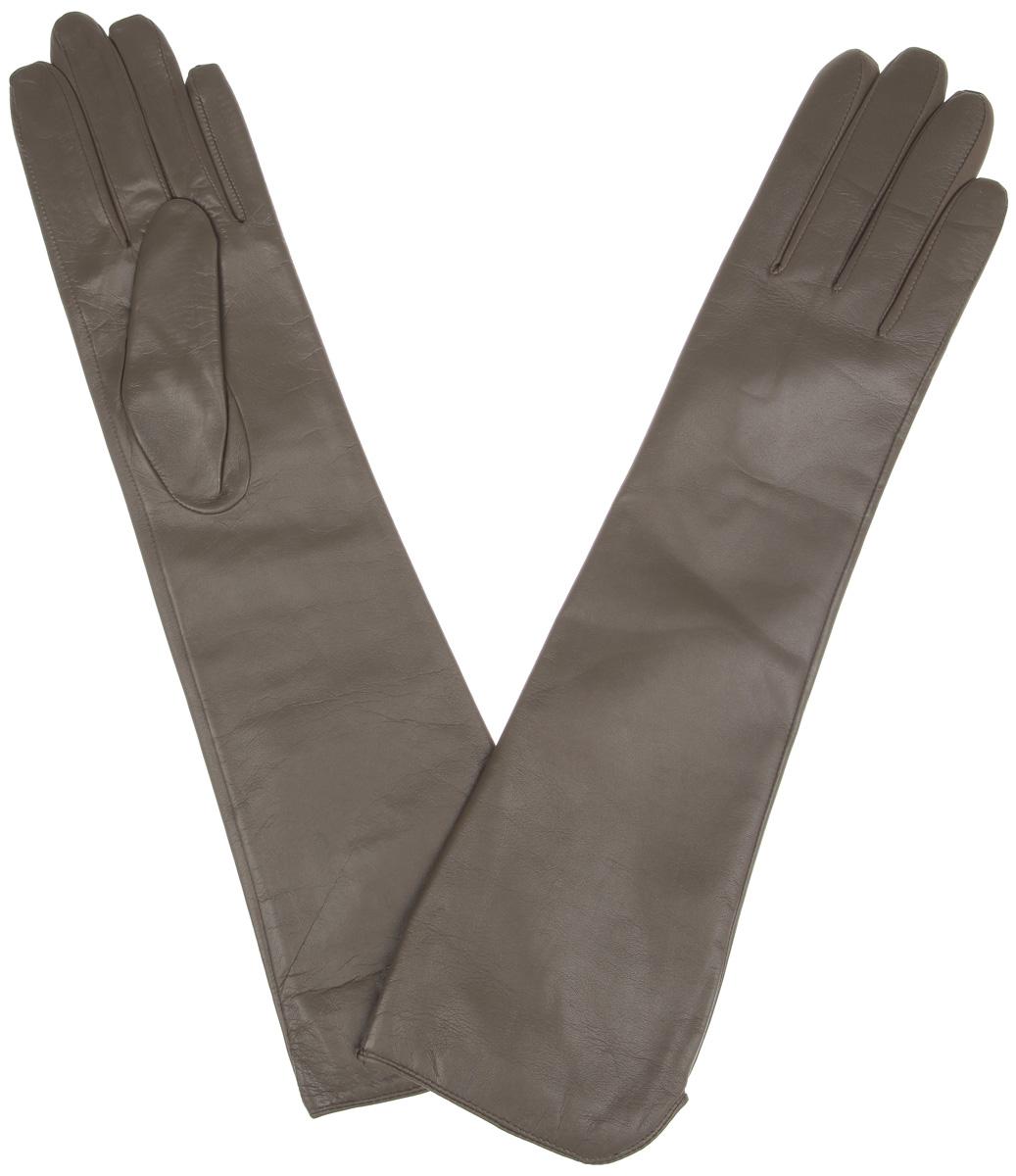 Перчатки женские Labbra, цвет: серо-коричневый. LB-2002. Размер 7,5LB-2002Элегантные удлиненные женские перчатки Labbra станут великолепным дополнением вашего образа и защитят ваши руки от холода и ветра во время прогулок.Перчатки выполнены из натуральной кожи и имеют подкладку из шерсти с добавлением акрила, что позволяет им надежно сохранять тепло и обеспечивает высокую гигроскопичность. Удлиненные манжеты подчеркнут изящество ваших рук. Такие перчатки будут оригинальным завершающим штрихом в создании современного модного образа, они подчеркнут ваш изысканный вкус и станут незаменимым и практичным аксессуаром.