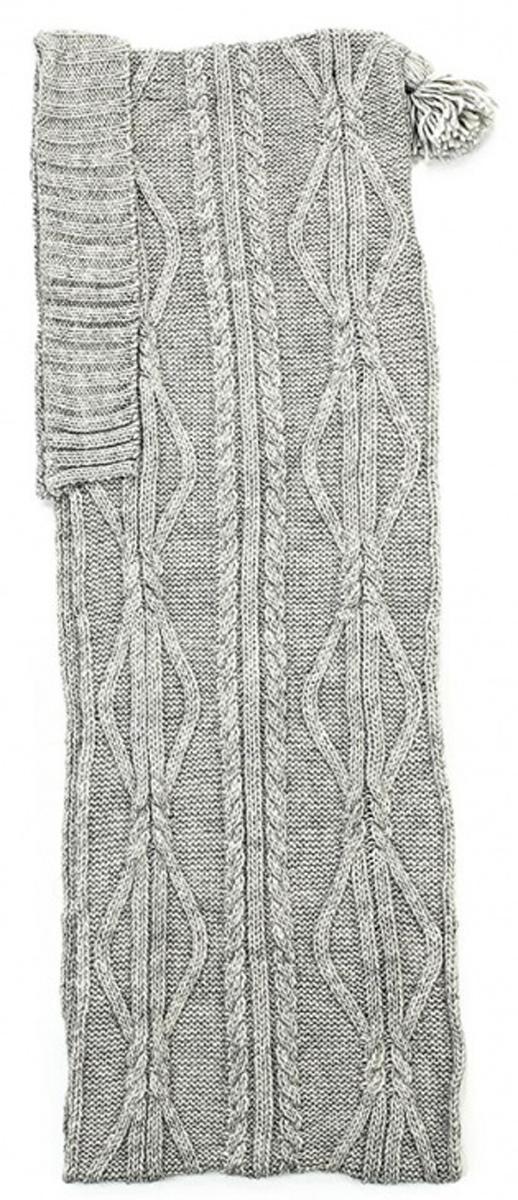 Капюшон женский Flioraj, цвет: светло-серый. 7120S-22. Размер М (57)7120S-22Ультрамодный капюшон с кисточкой 2в1, является капюшоном и шарфом одновременно, выполнен крупными модными аранами.