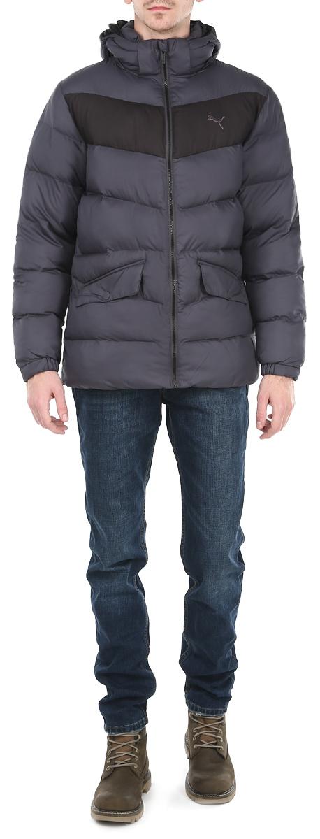 Куртка мужская Puma, цвет: серый, черный. 83380716. Размер XXL (52/54)