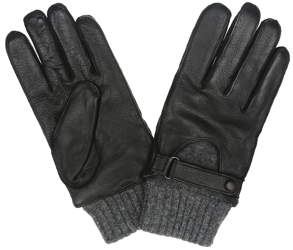 Перчатки мужские Eleganzza, цвет: черный, серый. OS455. Размер 9OS455Стильные мужские перчатки Eleganzza выполнены из чрезвычайно мягкой иприятной на ощупь натуральной кожи, а их подкладка - из натуральнойшерсти. С лицевой стороны модель оформлена декоративным ремешком на застежке-кнопке. Шерстяные манжеты облегают запястье.В настоящее время перчаткиявляются неотъемлемой принадлежностью одежды. Перчатки станутзавершающим и подчеркивающим элементом вашего стиля и неповторимости.