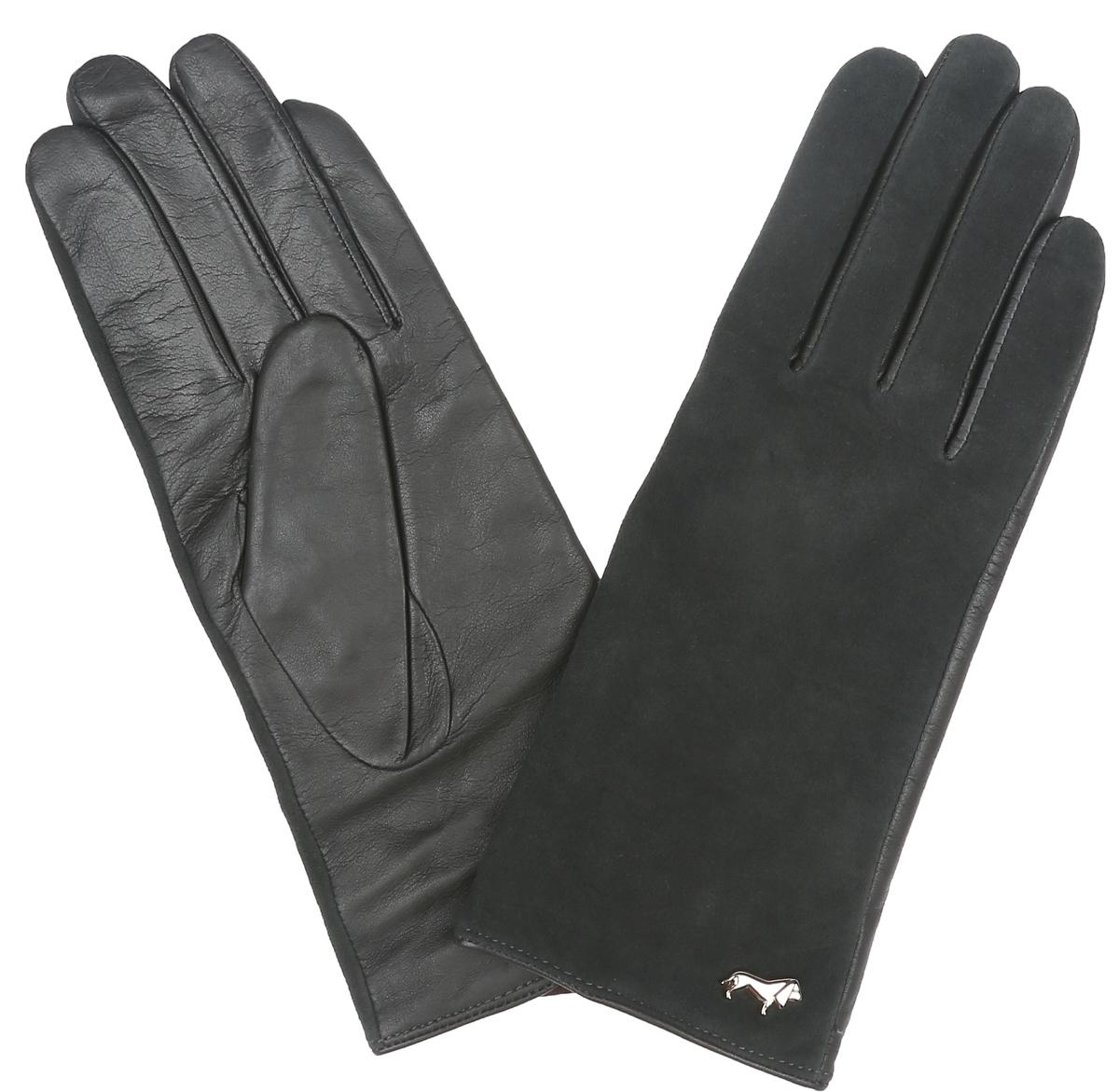 Перчатки женские Labbra, цвет: темно-серый. LB-4707. Размер 6,5LB-4707Классические женские перчатки Labbra не только защитят ваши руки, но и станутвеликолепным украшением. Тыльная сторона перчаток выполнена иззамши, а на ладошках- из чрезвычайно мягкой и приятной на ощупьнатуральной кожи ягненка, а их подкладка - из натуральной шерсти с добавлениемакрила.Внешняя сторона оформлена фирменным логотипом в виде собачки. Качественная отделка кожи ягненка делает эту модель нетолько красивой, но и долговечной.В настоящее время перчатки являютсянеотъемлемой принадлежностью одежды, вместе с этим аксессуаром выобретаете женственность и элегантность. Перчатки станут завершающим иподчеркивающим элементом вашего стиля и неповторимости.