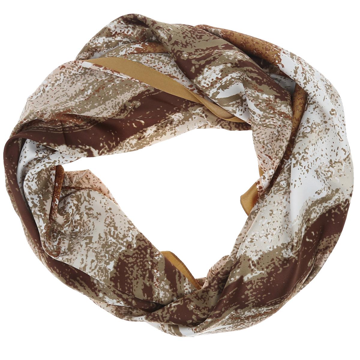 Платок женский Laura Milano, цвет: коричневый, светло-коричневый, белый. CS-QUADRO-4. Размер 90 см х 90 смCS-QUADRO-4Стильный женский платок Laura Milano станет великолепным завершением любого наряда. Платок изготовлен из высококачественного материала. Он оформлен оригинальным принтом в виде цветных пятен. Классическая квадратная форма позволяет носить платок на шее, украшать им прическу или декорировать сумочку. Мягкий и шелковистый платок поможет вам создать изысканный женственный образ, а также согреет в непогоду. Такой платок превосходно дополнит любой наряд и подчеркнет ваш неповторимый вкус и элегантность.