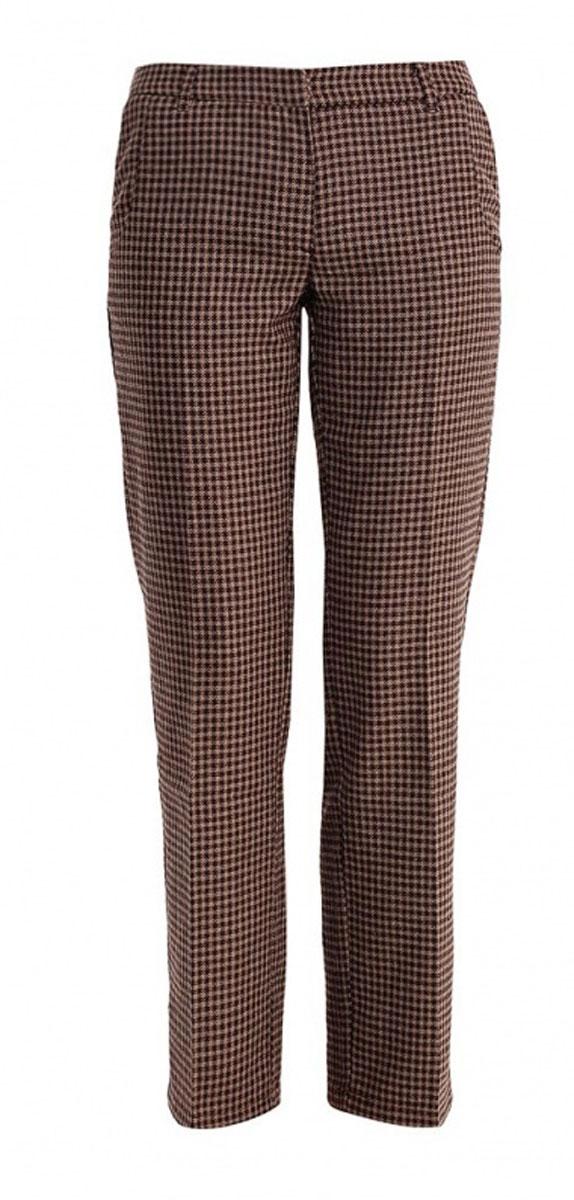 Брюки женские Baon, цвет: коричневый. B295530. Размер S (44)B295530Классические женские брюки Baon из ткани с добавлением шерсти - элегантный вариант для холодной погоды. Материал изделия украшен всегда актуальным узором гусиная лапка. Изделие застёгивается на пуговицу и потайной крючок в поясе и ширинку на застежке-молнии, пояс дополнен шлевками для ремня. По бокам и сзади расположены по два врезных кармана.Эти модные и в тоже время комфортные брюки послужат отличным дополнением к вашему гардеробу. В них вы всегда будете чувствовать себя стильно и уверенно.