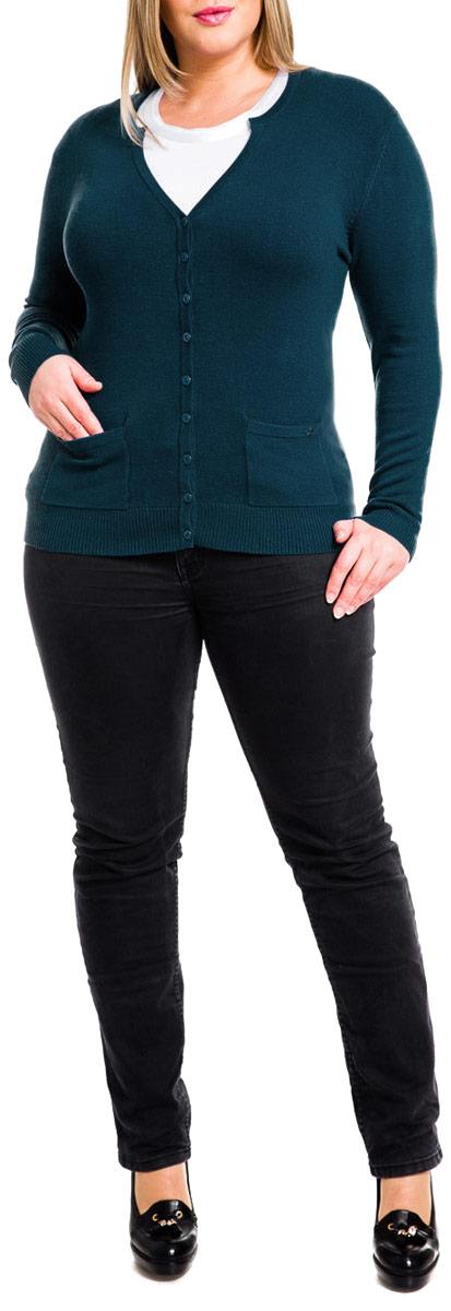 Кардиган женский Mondigo, цвет: джинсовый. 29786. Размер 5029786Классический кардиган Mondigo на пуговицах с длинным рукавом и V-образным вырезом горловины невероятно мягкий и приятный на ощупь, не сковывает движения, обеспечивая наибольший комфорт. Изделие изготовлено из качественных материалов. Низ модели, манжеты рукавов и вырез горловины оформлены эластичной резинкой. Лицевая сторона дополнена двумя накладными кармашками и металлическим логотипом бренда. Этот модный кардиган послужит отличным дополнением к вашему гардеробу, станет главной составляющей вашего стиля. В нем вы всегда будете чувствовать себя уютно и комфортно.