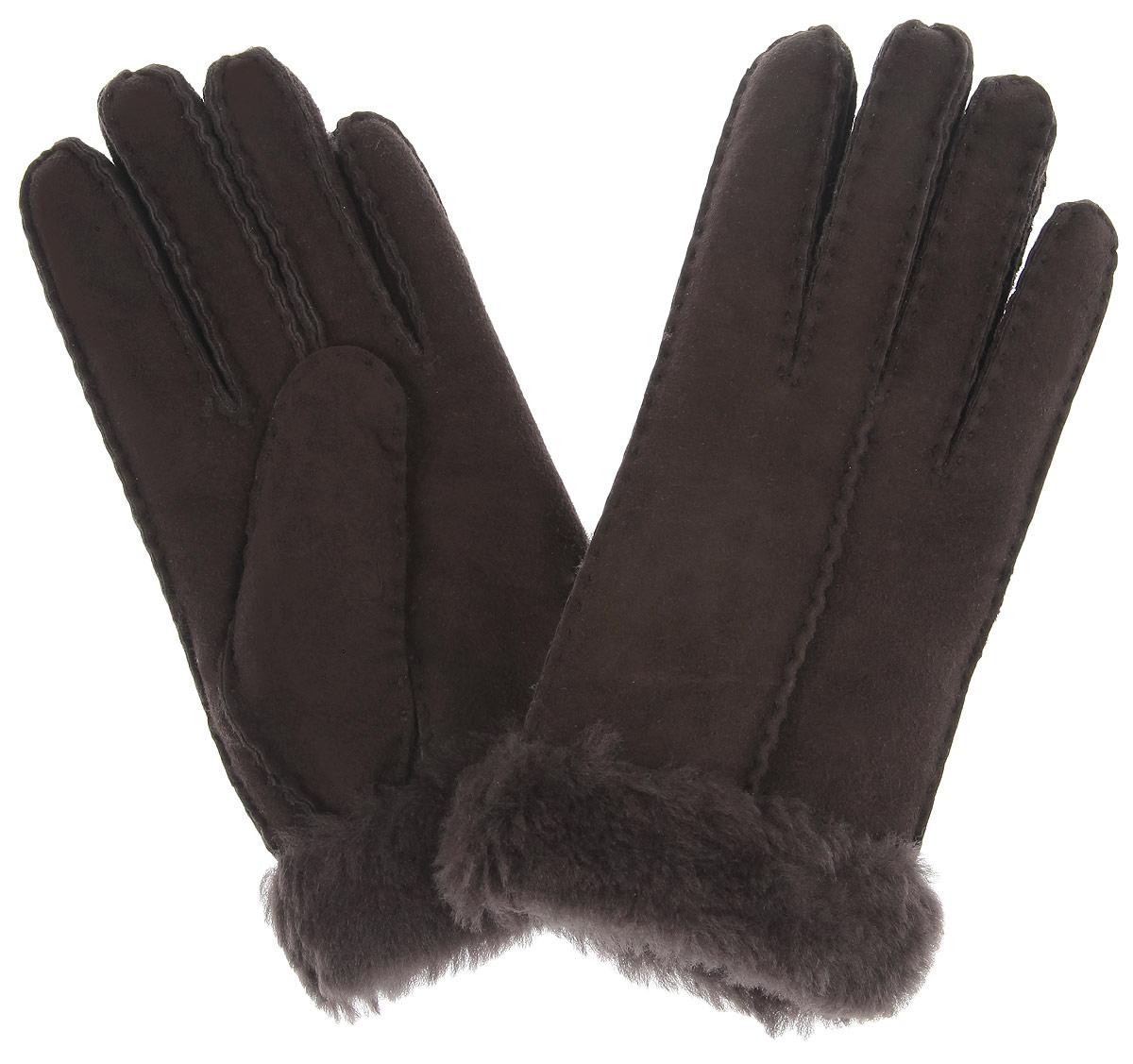 Перчатки женские Fabretti, цвет: коричневый. 25.11-2 chocolat. Размер S (6-6,5)25.11-2 chocolatСтильные женские перчатки Fabretti не только защитят ваши руки, но истанут великолепным украшением. Перчатки выполнены из чрезвычайно мягкой иприятной на ощупь мелковорсистой натуральной кожи, а их подкладка - изнатурального меха. Перчатки оформлены наружными ручными швами.Стильный аксессуар для повседневного образа.