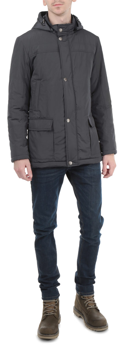 Куртка мужская Grishko, цвет: темно-серый. AL-2650. Размер 52