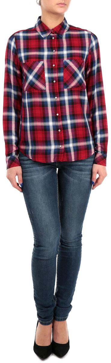 Рубашка женская Tally Weijl, цвет: красный, синий, фиолетовый. SBLVICAROLO 441C/REDGRN005. Размер L (42) балетки tally weijl цвет розовый