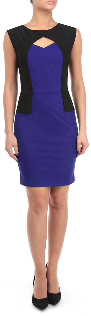 Платье Broadway, цвет: синий, черный. FA13 KIT06 BLUE. Размер S (44)FA13 KIT06 BLUEСтильное платье Broadway сделает вас неотразимой в будни и в праздники.Платье оригинального исполнения оформлено в контрастных цветах. В зоне груди расположен ромбообразный вырез. На спинке вдоль лопаток расположена скрытая молния. Любая женщина в этом платье будет чувствовать себя неповторимой.