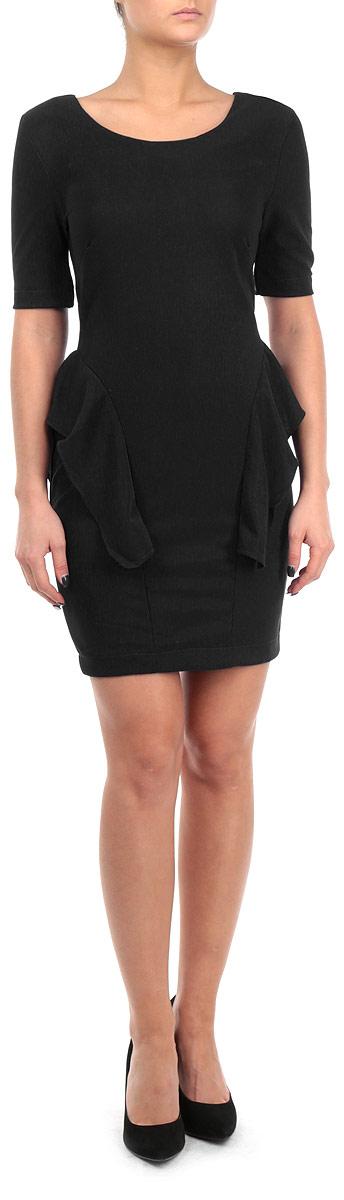 Платье Broadway, цвет: черный. FA13 KIT04 BLACK. Размер S (44)FA13 KIT04 BLACKСтильное платье Broadway, выполненное из высококачественного материала, покорит своим превосходным дизайном. Модель приталенного силуэта, с рукавом 1/2 и с круглым вырезом горловины. Изделие застегивается на застежку-молнии на спинке. По бокам платье оформлено оборкой. Это модное и в тоже время комфортное платье послужит отличным дополнением к вашему гардеробу. В нем вы всегда будете чувствовать себя уютно и комфортно.
