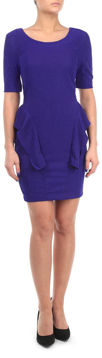Платье Broadway, цвет: синий. FA13 KIT04 BLUE. Размер M (46)FA13 KIT04 BLUEСтильное платье Broadway, выполненное из высококачественного материала, покорит своим превосходным дизайном. Модель приталенного силуэта, с рукавом 1/2 и с круглым вырезом горловины. Изделие застегивается на застежку-молнии на спинке. По бокам платье оформлено оборкой. Это модное и в тоже время комфортное платье послужит отличным дополнением к вашему гардеробу. В нем вы всегда будете чувствовать себя уютно и комфортно.