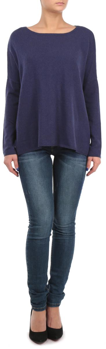 Джемпер женский Baon, цвет: синий. B135534. Размер M (46)B135534Оригинальный женский джемпер Baon, изготовленный из высококачественной пряжи, мягкий и приятный на ощупь, не сковывает движений и обеспечивает наибольший комфорт.Модель свободного кроя с круглым вырезом горловины и длинными рукавами летучая мышь великолепно подойдет для создания современного образа в стиле Casual. Однотонный джемпер будет великолепно сочетаться с любыми нарядами.Этот джемпер послужит отличным дополнением к вашему гардеробу. В нем вы всегда будете чувствовать себя уютно и комфортно в прохладную погоду.