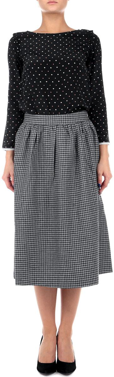 Юбка Baon, цвет: серый. B475517. Размер L (48)B475517Оригинальная юбка Baon выполнена из высококачественного материала, она обеспечит вам комфорт и удобство при носке.Очаровательная юбка дополнена пришивным поясом и застегивается на застежку-молнию сзади.Стильная юбка-миди, оформленная принтом в мелкую клетку, выгодно освежит и разнообразит любой гардероб. Создайте женственный образ и подчеркните свою яркую индивидуальность! Классический фасон и оригинальное оформление этой юбки сделают ваш образ непревзойденным.