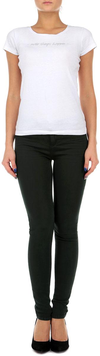 Брюки женские Tally Weijl, цвет: темно-зеленый. SPACOGAGAMR2 9Z/GRN122. Размер 36 (42)SPACOGAGAMR2 9Z/GRN122Стильные женские брюки Tally Weijl созданы специально для того, чтобы подчеркивать достоинства вашей фигуры. Модель зауженного кроя и средней посадки станет отличным дополнением к вашему современному образу. Застегиваются брюки на пуговицу в поясе и ширинку на застежке-молнии, имеются шлевки для ремня. Спереди модель оформлена двумя втачными карманами и одним небольшим секретным кармашком, а сзади - двумя накладными карманами. Эти модные и в тоже время комфортные брюки послужат отличным дополнением к вашему гардеробу. В них вы всегда будете чувствовать себя уютно и комфортно.