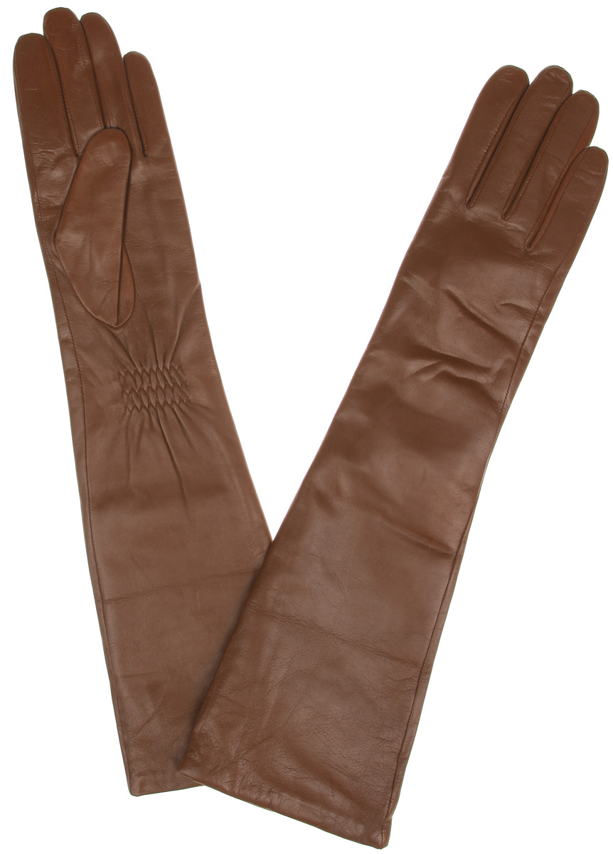 Перчатки женские Labbra, цвет: рыже-коричневый. LB-2004. Размер 6LB-2004Элегантные удлиненные женские перчатки Labbra станут великолепным дополнением вашего образа и защитят ваши руки от холода и ветра во время прогулок.Перчатки выполнены из натуральной кожи ягненка и имеют подкладку из шерсти с добавлением акрила, что позволяет им надежно сохранять тепло и обеспечивает высокую гигроскопичность. Перчатки дополнены сборками на запястьях. Удлиненные манжеты подчеркнут изящество ваших рук. Такие перчатки будут оригинальным завершающим штрихом в создании современного модного образа, они подчеркнут ваш изысканный вкус и станут незаменимым и практичным аксессуаром.