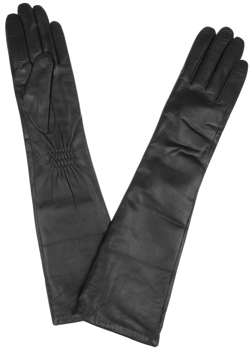 Перчатки женские Labbra, цвет: черный. LB-2004. Размер 6,5LB-2004Элегантные удлиненные женские перчатки Labbra станут великолепным дополнением вашего образа и защитят ваши руки от холода и ветра во время прогулок.Перчатки выполнены из натуральной кожи ягненка и имеют подкладку из шерсти с добавлением акрила, что позволяет им надежно сохранять тепло и обеспечивает высокую гигроскопичность. Перчатки дополнены сборками на запястьях. Удлиненные манжеты подчеркнут изящество ваших рук. Такие перчатки будут оригинальным завершающим штрихом в создании современного модного образа, они подчеркнут ваш изысканный вкус и станут незаменимым и практичным аксессуаром.