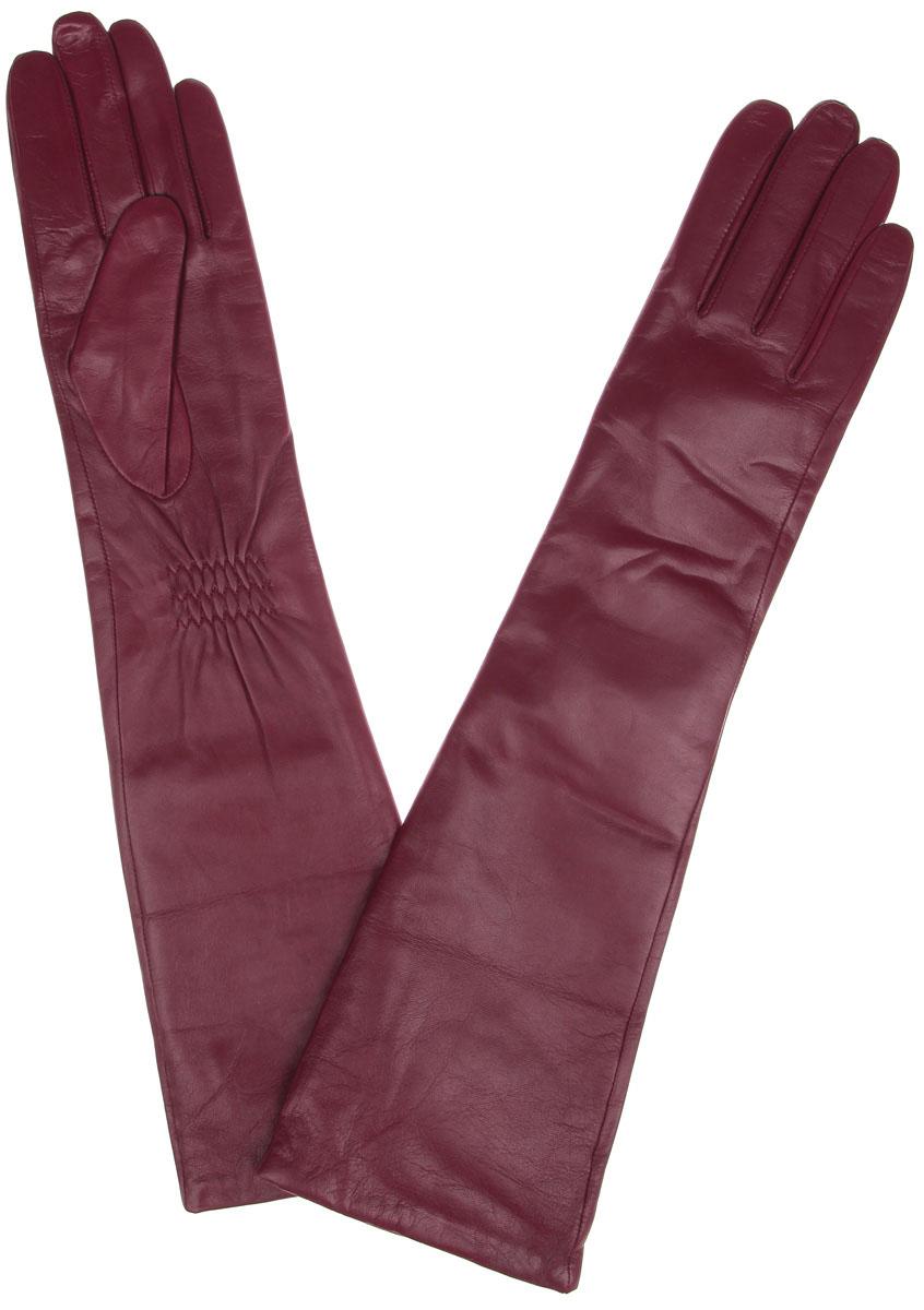 Перчатки женские Labbra, цвет: бордовый. LB-2004. Размер 7,5LB-2004Элегантные удлиненные женские перчатки Labbra станут великолепным дополнением вашего образа и защитят ваши руки от холода и ветра во время прогулок.Перчатки выполнены из натуральной кожи ягненка и имеют подкладку из шерсти с добавлением акрила, что позволяет им надежно сохранять тепло и обеспечивает высокую гигроскопичность. Перчатки дополнены сборками на запястьях. Удлиненные манжеты подчеркнут изящество ваших рук. Такие перчатки будут оригинальным завершающим штрихом в создании современного модного образа, они подчеркнут ваш изысканный вкус и станут незаменимым и практичным аксессуаром.