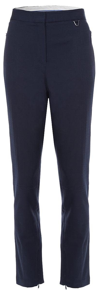 Брюки женские Baon, цвет: темно-синий. B295535. Размер XXL (52)B295535Стильные женские брюки Baon, выполненные из эластичного хлопка с добавлением вискозы, великолепно дополнят ваш образ и позволят подчеркнуть свой неповторимый стиль. Модель стандартной посадки и зауженного книзу кроя застегивается на ширинку на застежке-молнии, а также два крючка и пуговицу на поясе. Изделие дополнено двумя втачными карманами на молниях спереди и двумя втачными карманами сзади. Штанины снизу дополнены застежками-молниями.Эти модные и в тоже время комфортные брюки послужат отличным дополнением к вашему гардеробу. В них вы всегда будете чувствовать себя уютно и уверенно.