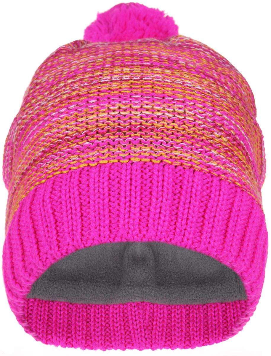 Шапка-бини детская Lassie, цвет: фуксия, оранжевый. 728678-4450. Размер S (46/48)728678_4450Детская шапка-бини Reima Lassie отлично подойдет для прогулок в холодное время года. Изделие, изготовленное из шерсти и акрила на мягкой флисовой подкладке, максимально сохраняет тепло. Благодаря эластичной вязке, шапка плотно прилегает к голове ребенка. Шапочка дополнена на макушке пушистым помпоном. По бокам модели предусмотрены ветронепроницаемые вставки, которые защищают маленькие ушки от холодного ветра. Край изделия оформлен крупной вязкой. По заднему шву шапка дополнена светоотражающей вставкой.Современный дизайн и яркая расцветка делают эту шапку модным и стильным предметом детского гардероба. В ней ребенку будет тепло, уютно и комфортно. Уважаемые клиенты!Размер, доступный для заказа, является обхватом головы.