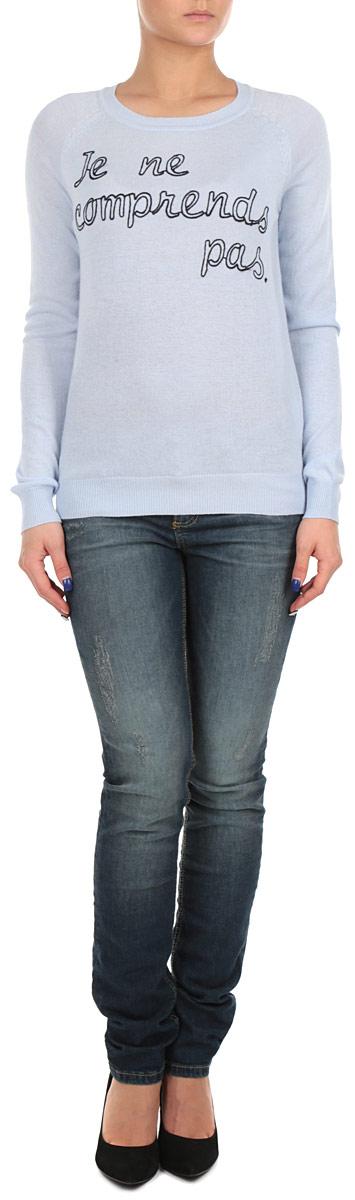 Джемпер женский Baon, цвет: голубой. B135524_LIGHT BLUE. Размер XXL (52/54)B135524_LIGHT BLUEСтильный женский джемпер Baon, изготовленный из высококачественного материала, необычайно мягкий и приятный на ощупь, не сковывает движения, обеспечивая наибольший комфорт. Модель свободного кроя, с круглым вырезом горловины и длинными рукавами. Широкие мягкие резинки по низу и манжетам изделия препятствуют проникновению холодного воздуха. Этот модный и в тоже время комфортный джемпер станет отличным дополнением вашего гардероба!