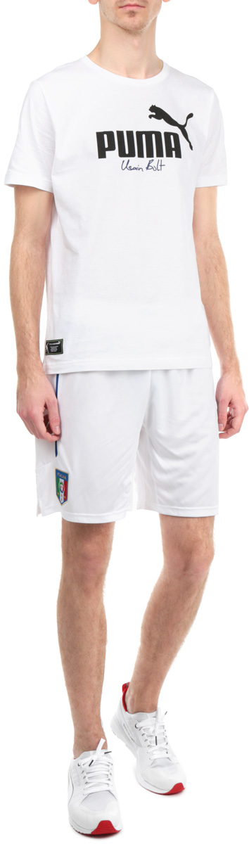 Шорты мужские Puma FIGC Italia, цвет: белый. 74429802. Размер XXL (52/54)74429802Мужские шорты Puma FIGC Italia станут отличным дополнением к вашему спортивному гардеробу. Шорты выполнены из высококачественного воздухопроницаемого материала, который великолепно отводит влагу от тела.Модель дополнена широкой эластичной резинкой на поясе и оформлена вышивкой в виде логотипа Итальянской федерации футбола (FIGC). Шорты затягиваются на шнурок-кулиску на поясе.Эти модные шорты идеально подойдут для бега и других спортивных упражнений. В них вы всегда будете чувствовать себя уверенно и комфортно.