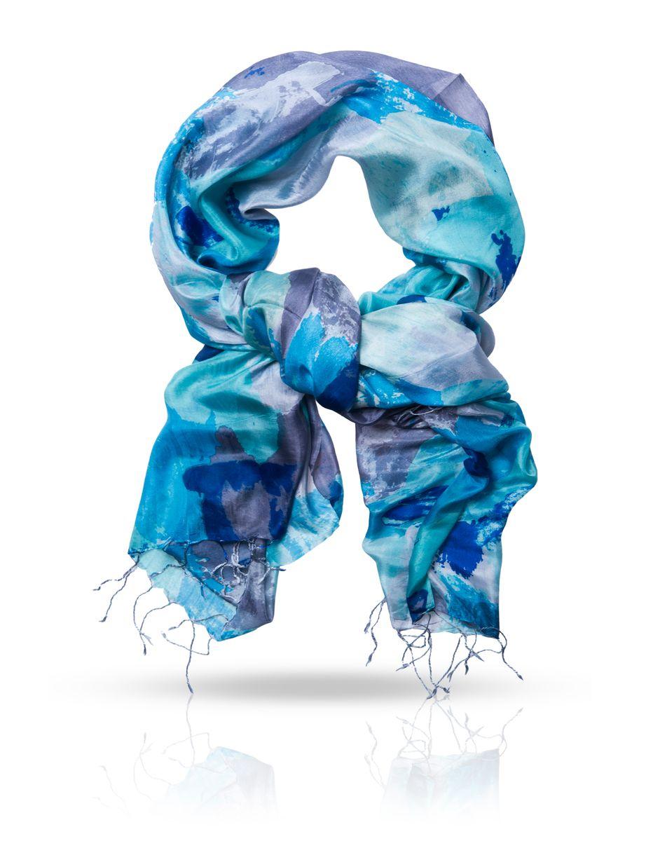 Палантин Michel Katana, цвет: темно-синий, серый, бирюзовый. S-CANVAS/BLUE. Размер 110 см x 180 смS-CANVAS/BLUEОчаровательный палантин Michel Katana подчеркнет ваш неповторимый образ. Изделие выполнено из натурального шелка и оформлено оригинальным принтом. Материал мягкий и приятный на ощупь, хорошо драпируется. Края палантина декорированы кисточками скрученными в жгутики. Этот модный аксессуар женского гардероба гармонично дополнит образ современной женщины, следящей за своим имиджем и стремящейся всегда оставаться стильной и элегантной.