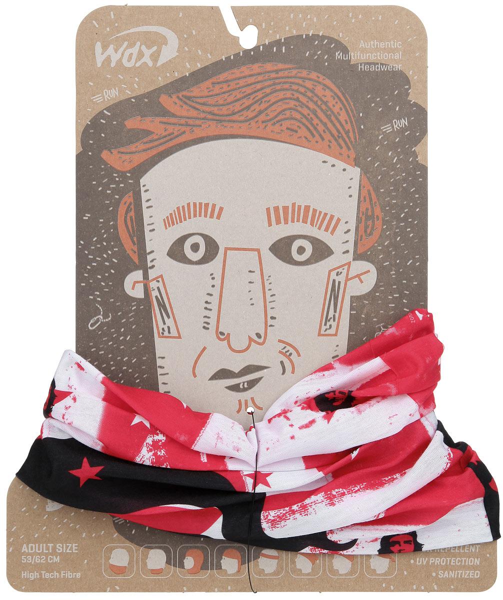 Бандана многофункциональная WindXtreme, цвет: красный, черный, белый. УТ-00006310. Размер 53/62УТ-00006310Многофункциональный головной убор WindXtreme - это очень современный предмет одежды, который защитит вас от холода при занятиях спортом и отдыхе на открытом воздухе. Его можно использовать как: шарф, шейный платок, бандану, повязку, ленту для волос, балаклаву и шапку. Подходит для занятий бегом, походов, скалолазания, езды на велосипеде, сноуборда, катания на лыжах, мотоциклах, игры в хоккей, а так же для повседневного использования. Он без швов, мягкий, легкий, эластичный, комфортный и воздухопроницаемый. Обеспечивает отведение влаги, быстрое высыхание, обладает антибактериальным эффектом. 100% высокотехнологичный полиэстер Sanitized. Принт - портрет Че Гевары. Один размер, подходит как для взрослых, так и для подростков.