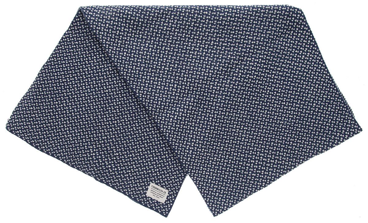 Шарф мужской Tom Tailor Denim, цвет: синий, белый. 0219601.00.12_6519. Размер универсальный0219601.00.12_6519Стильный мужской шарф Tom Tailor Denim, выполненный из полиакриловой пряжи, создан подчеркнуть ваш вкус и согреть вас в прохладное время года. Модель отличается невероятной легкостью и мягкостью. Оформлен шарф небольшой нашивкой. Этот модный аксессуар гармонично дополнит ваш образ.