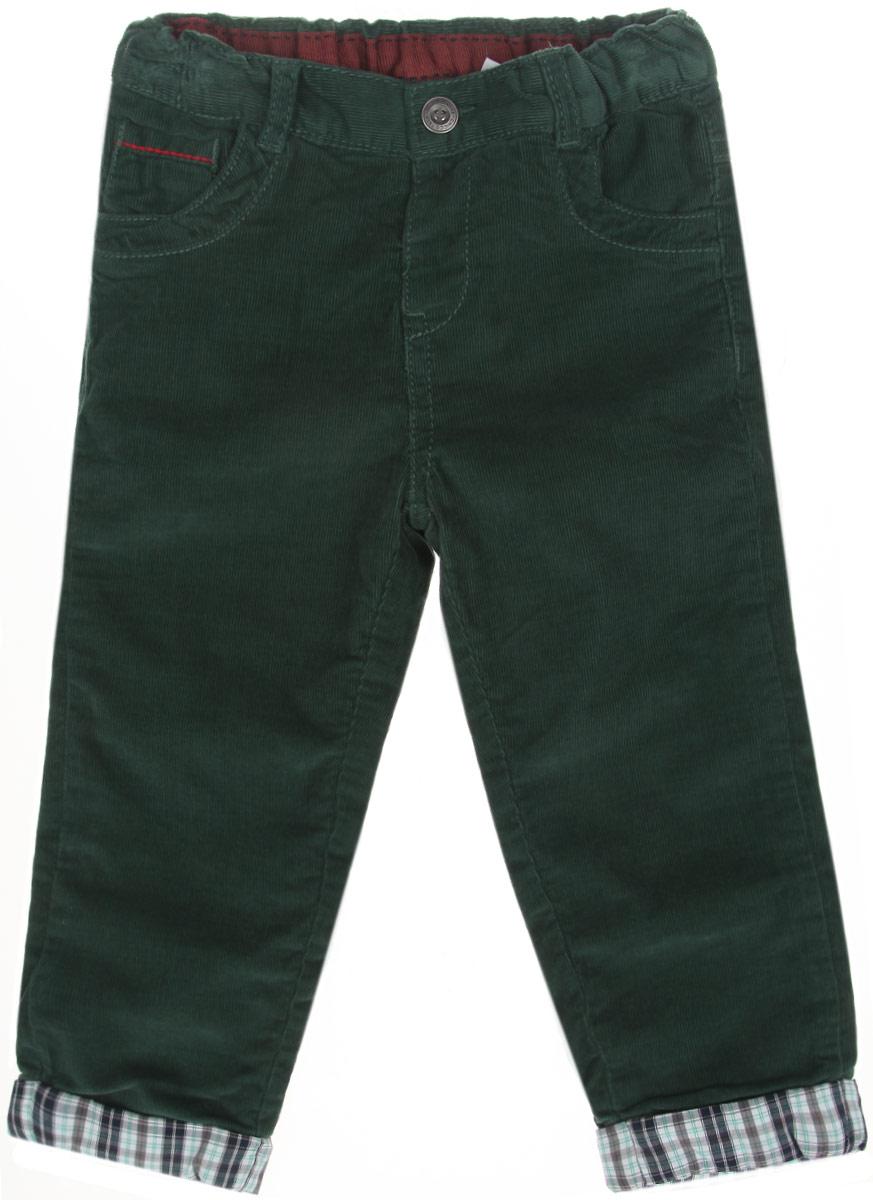 Брюки для мальчика Chicco My First, цвет: темно-зеленый. 9024173074058. Размер 74, 12 месяцев