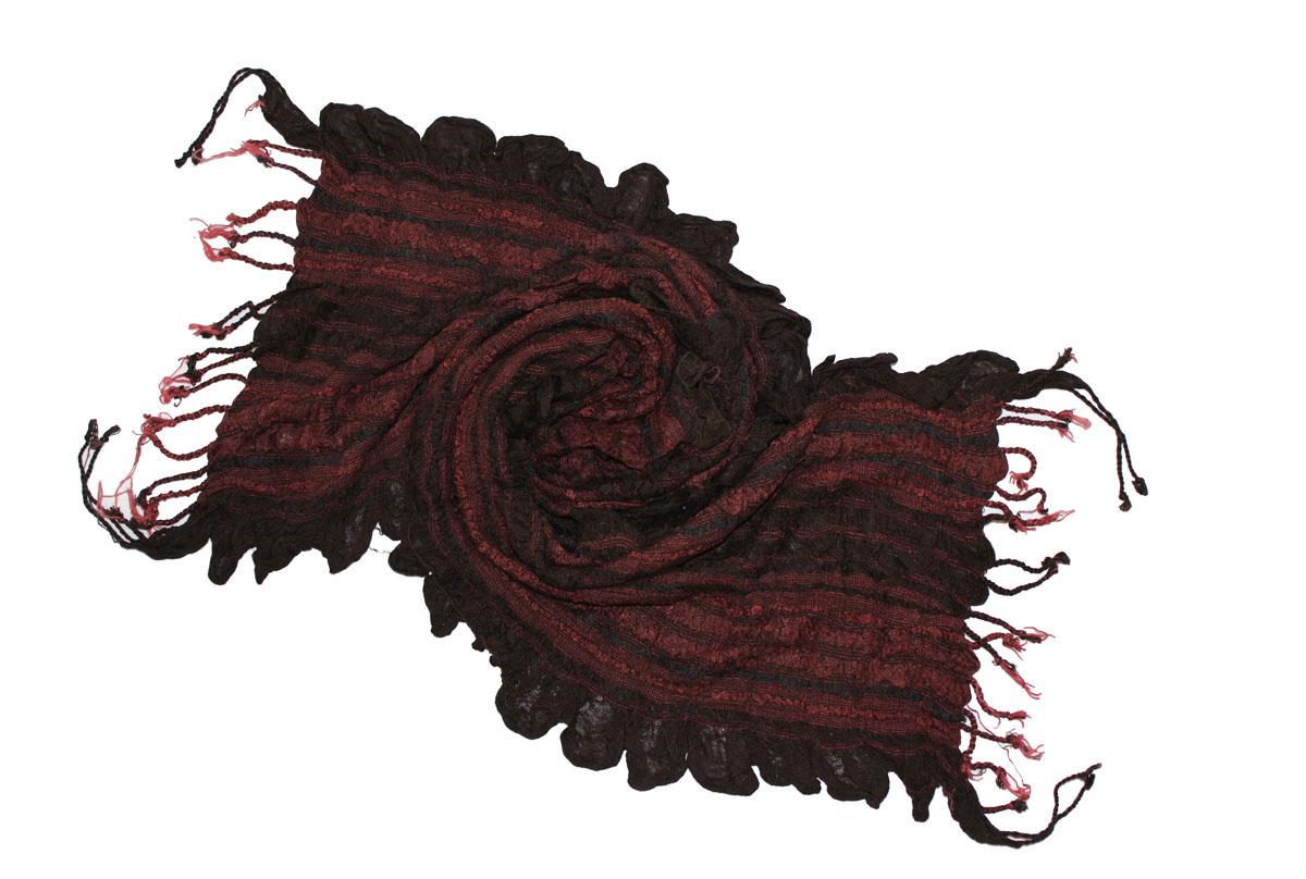 Шарф женский Ethnica, цвет: бордовый, коричневый. 258125н. Размер 55 см х 180 см258125нЖенский шарф Ethnica, изготовленный из 100% вискозы, подчеркнет вашу индивидуальность. Благодаря своему составу, он легкий, мягкий и приятный на ощупь. Изделие выполнено в оригинальном дизайне и дополнено кисточками.Такой аксессуар станет стильным дополнением к гардеробу современной женщины.