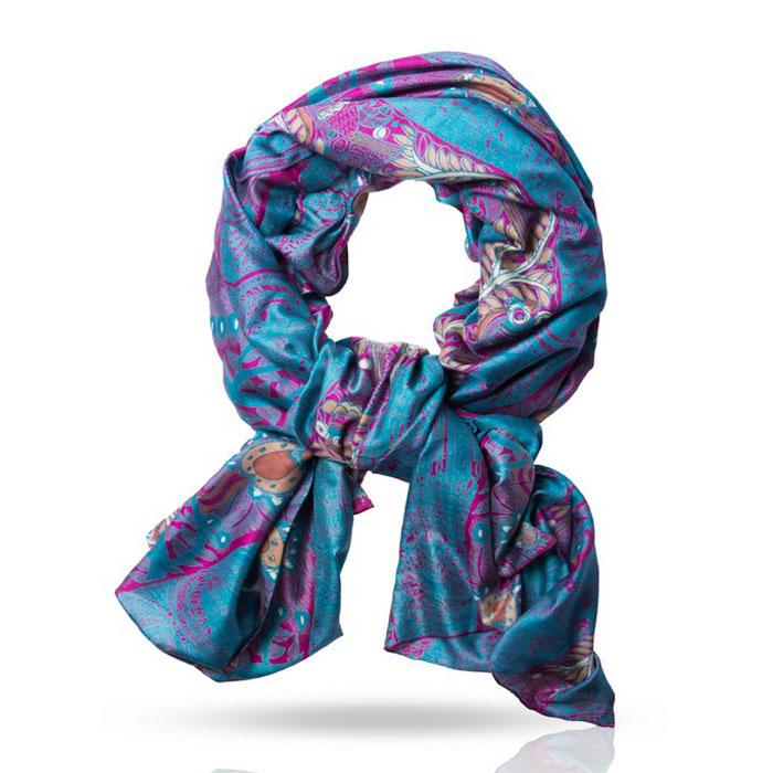 Палантин Michel Katana, цвет: сине-зеленый, темно-розовый, бежевый. SN-TRIBAL2/BLUE. Размер 100 см x 190 смSN-TRIBAL2/BLUEОчаровательный палантин Michel Katana подчеркнет ваш неповторимый образ. Изделие выполнено из 100%-го шелка и оформлено оригинальным принтом. Материал мягкий и приятный на ощупь, хорошо драпируется. Этот модный аксессуар женского гардероба гармонично дополнит образ современной женщины, следящей за своим имиджем и стремящейся всегда оставаться стильной и элегантной.