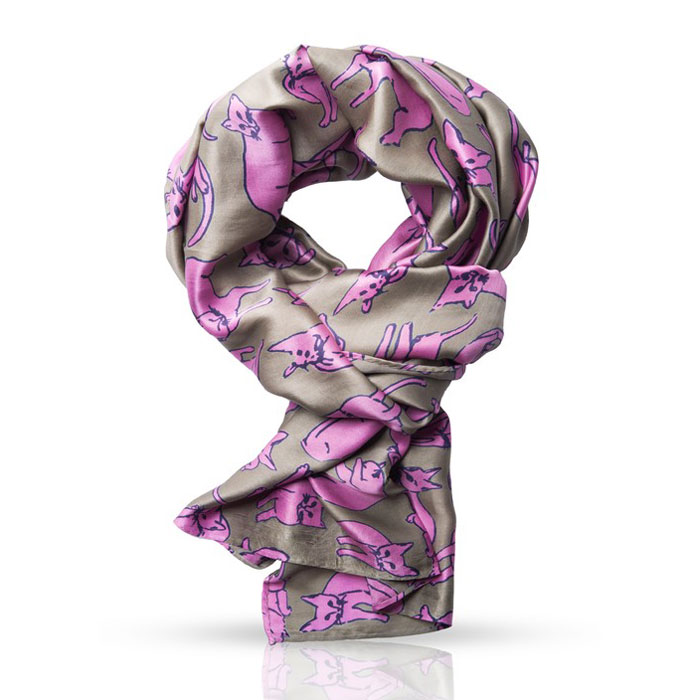 Платок женский Michel Katana, цвет: оливковый, розовый. SS.KV-CATS/TAUPE. Размер 110 см x 110 смSS.KV-CATS/TAUPEСтильный платок Michel Katana согреет вас в прохладную погоду и станет отличным завершением вашего образа. Плоток изготовлен из 100%-го шелка и оформлен оригинальным принтом в виде кошек. Материал мягкий и приятный на ощупь, хорошо драпируется. Этот модный аксессуар гармонично дополнит любой наряд и подчеркнет ваш изысканный вкус.